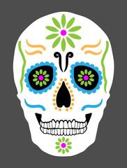 Day of The Dead mexican Skull. Día de los muertos.