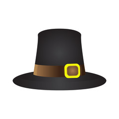 Isolated pilgrim hat on a white background, Thanksgiving day vector illustration
