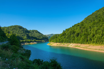 Kokin Brod, Serbia August 01, 2017: Zlatar Lake in Serbia