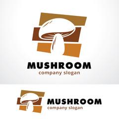 Mushroom Logo Template Design Vector, Emblem, Design Concept, Creative Symbol, Icon