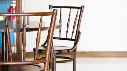 vintage chair and tabl, dining room, home interior decorate