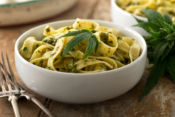 Pasta With Marijuana Pesto