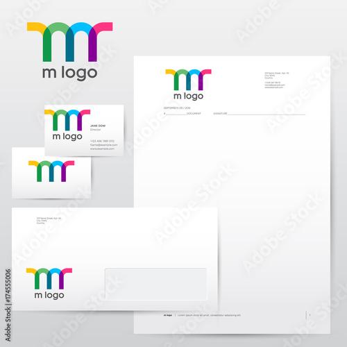 M letter m logo identity colorful transparent logo identity m letter m logo identity colorful transparent logo identity letterhead envelopes reheart Choice Image