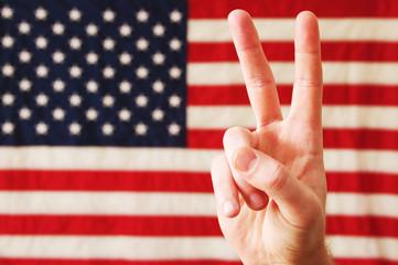 USA Peace Sign