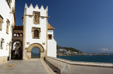 Detail of Sitges at the Mediterranean sea, Spain
