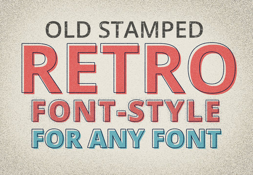 Old Stamped Retro Text Style