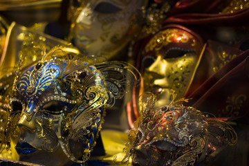 The image of Venetian carnival masks