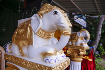 Ganesh statue in india temple