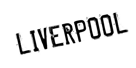 Liverpool rubber stamp. Grunge design with dust scratches. Effects can be easily removed for a clean, crisp look. Color is easily changed.