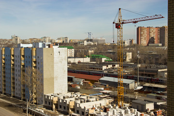 Construction of a multi-storey building in Ulyanovsk.