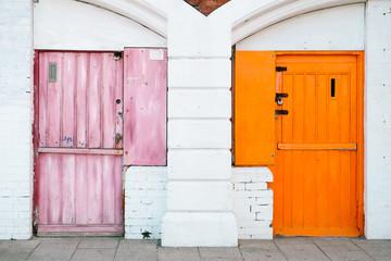 Colourful doors