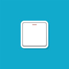 Electric switch illustration in flat style. Vector