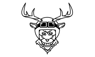 Biker Deer