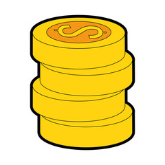pile coins money isolated icon