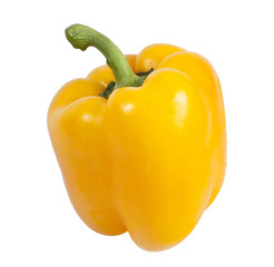 Pepper yellow color on white background