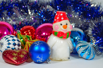 A colorful composition for Christmas.