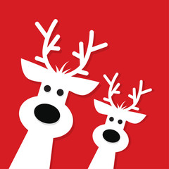 Two white Christmas Reindeer