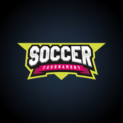 Soccer or football text power full typography, t-shirt graphics, vectors. Awesome sport retro text emblem