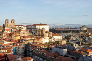 Views of the old town of Oporto