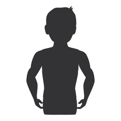 fitness silhouette human icon