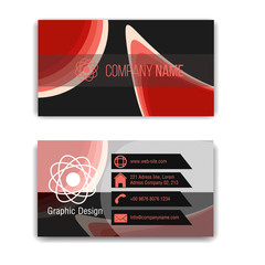 Vector design business card template.