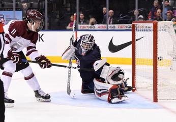 HOCKEY: DEC XX IIHF World Junior Championship - USA vs. Latvia
