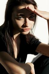 Studio portrait of a young beautiful woman