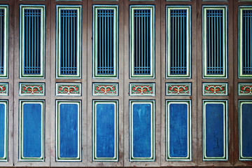 Series doors and windows of old Chinese house