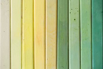 Chalk color range from yellow to green