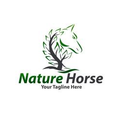 leaf horse logo