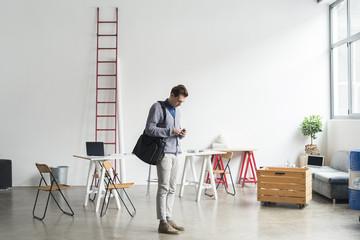 Businessman in a modern workspace