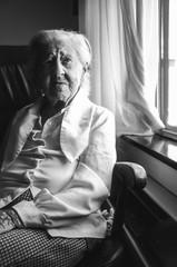 Portrait of Lovely Elderly Woman