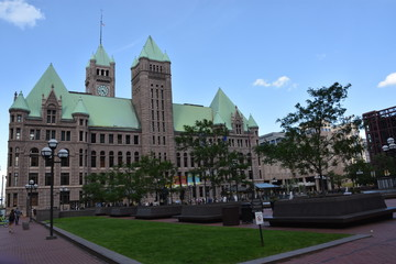 Historic City Hall in Minneapolis, Minnesota