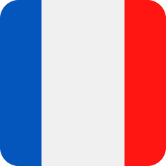 France Flag Vector Square Flat Icon