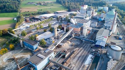 Zuckerfabrik, Aarberg, Bern, Schweiz
