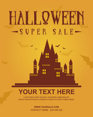 Design Halloween poster collection stock