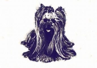 Funny dog art illustration