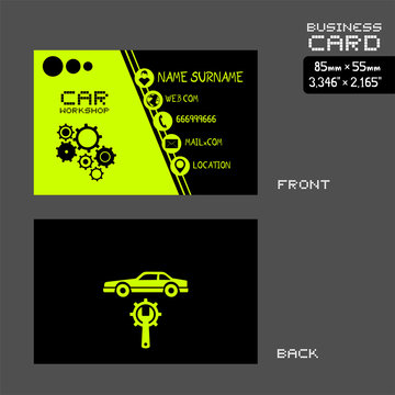workshop car business card