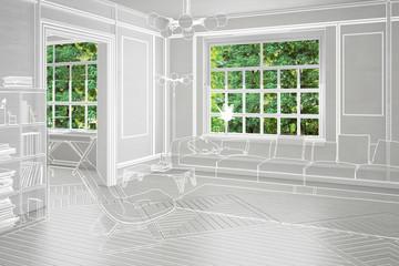 Projekt Einer Wohnzimmereinrichtung Konzeption