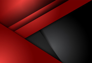 Red and black abstract material design for background