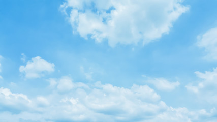 Blue sky and white fluffy clouds,natural background.meteorology,climate,wallpaper