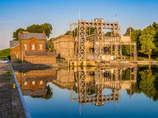 Boat Lift on the Canal du Centre, Belgium