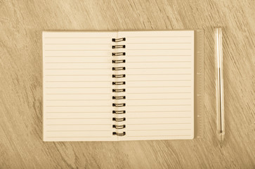 Empty notebook page