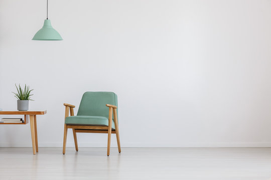 Open space with mint chair