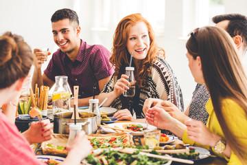 Celebrating vegan party at home