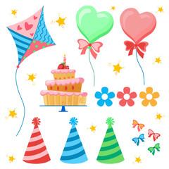 Celebratory set. Birthday party.