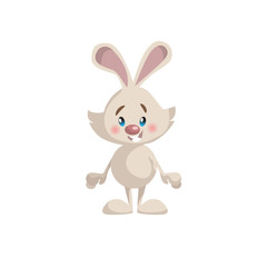 Cartoon trendy style cute bunny mascot icon. Simple gradient vector illustration isolated on white background.