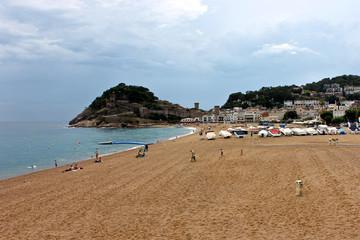 Views of the Mediterranean coast from Tossa de Mar, Catalonia, Spain