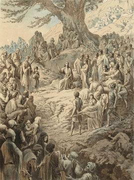 The sermon on the mount, Jesus Christ.