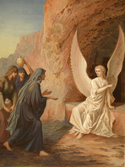 The angel at the tomb of the Lord Jesus Christ.